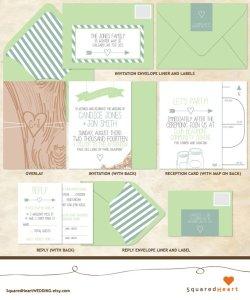 SquaredHeart | Invitations and Decor for the DIY Bride
